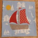 Sailboat cushion cover