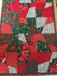 Christmas Table Runner from Christmas sewing classes