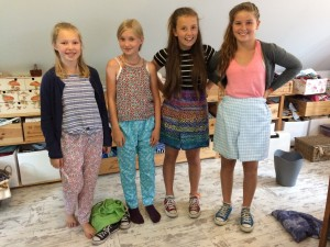 Young ladies with their Pyjama Creations