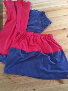 T-shirt off cuts make a cute skirt